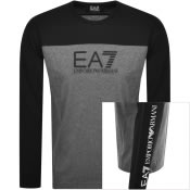 Product Image for EA7 Emporio Armani Long Sleeve T Shirt Black