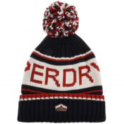 Product Image for Superdry Cable Knit Logo Beanie Hat Navy