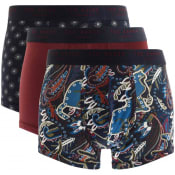 Product Image for Ted Baker Underwear Triple PackTrunks Burgundy