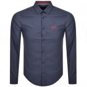 Product Image for BOSS Biado R Long Sleeved Shirt Navy