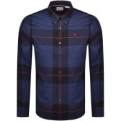 Product Image for Timberland Long Sleeved Cotton Brush Shirt Blue