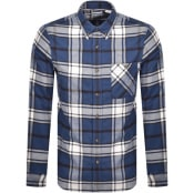 Product Image for Timberland Long Sleeved Flannel Check Shirt Navy
