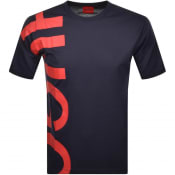 Product Image for HUGO Daws 211 Crew Neck Short Sleeve T Shirt Navy