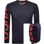Product Image for HUGO Demeo Long Sleeved T Shirt Navy
