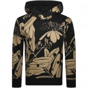 Product Image for HUGO Dapati Floral Pullover Hoodie Black