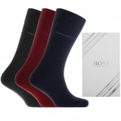 Product Image for BOSS Triple Pack Socks Gift Set Red