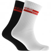 Product Image for HUGO Double Pack Logo Socks Black