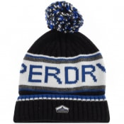 Product Image for Superdry Cable Knit Logo Beanie Hat Black