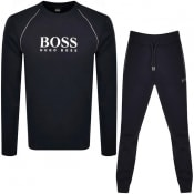 Product Image for BOSS Bodywear Logo Tracksuit Navy
