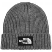 Product Image for The North Face Logo Beanie Hat Grey