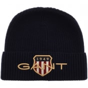 Product Image for Gant Archive Shield Beanie Hat Navy