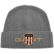 Product Image for Gant Archive Shield Beanie Hat Grey