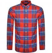 Product Image for Gant Brushed Bright Plaid Oxford Shirt Red