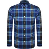 Product Image for Gant Brushed Bright Plaid Oxford Shirt Blue