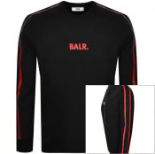 Product Image for BALR Taped Straight Crew Neck Sweatshirt Black