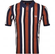 Product Image for Fred Perry Striped Polo T Shirt Brown