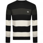 Product Image for Fred Perry Crew Neck Striped Knit Jumper Black