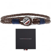 Product Image for Tommy Hilfiger Button Leather Bracelet Brown