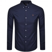Product Image for Farah Vintage Brewer Slim Long Sleeve Shirt Navy