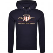 Product Image for Gant D1 Archive Shield Hoodie Navy
