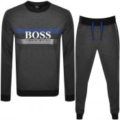 Product Image for BOSS Bodywear Loungewear Logo Tracksuit Grey