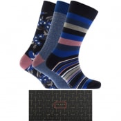Product Image for Ted Baker 3 Pack Socks Navy