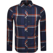 Product Image for G Star Raw Checked Long Sleeved Shirt Navy