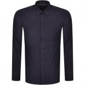 Product Image for Ted Baker Spoonie Long Sleeved Shirt Navy