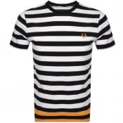 Product Image for Fred Perry Bold Striped T Shirt Black