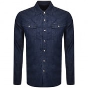 Product Image for G Star Raw Slim 3301 Long Sleeved Shirt Navy