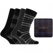 Product Image for Tommy Hilfiger Four Pack Socks Black