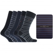Product Image for Tommy Hilfiger Five Pack Socks Blue
