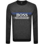 Product Image for BOSS Bodywear Lounge Crew Neck Sweatshirt Grey