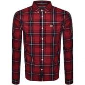 Product Image for Lacoste Checked Long Sleeved Shirt Red