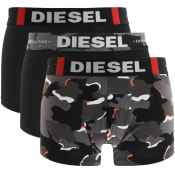 Product Image for Diesel Underwear Damien 3 Pack Trunks Black