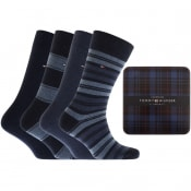 Product Image for Tommy Hilfiger Four Pack Socks Blue