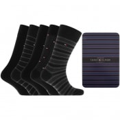Product Image for Tommy Hilfiger Five Pack Socks Black
