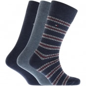 Product Image for Tommy Hilfiger Three Pack Socks Blue