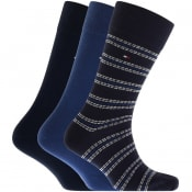 Product Image for Tommy Hilfiger Three Pack Socks Navy