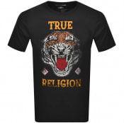 Product Image for True Religion Crew Neck Tiger Logo T Shirt Black