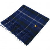 Product Image for Lyle And Scott Tartan Lambswool Scarf Blue
