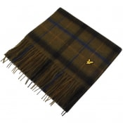 Product Image for Lyle And Scott Tartan Lambswool Scarf Green