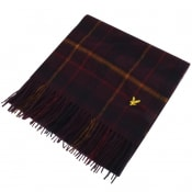 Product Image for Lyle And Scott Tartan Lambswool Scarf Burgundy