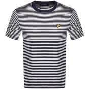Product Image for Lyle And Scott Striped T Shirt Navy