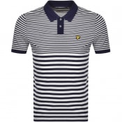 Product Image for Lyle And Scott Short Sleeved Polo T Shirt Navy