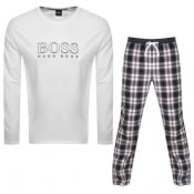 Product Image for BOSS Bodywear Logo Cosy Pyjama Set White