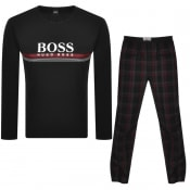Product Image for BOSS Bodywear Logo Cosy Pyjama Set Black