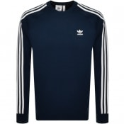 Product Image for adidas Originals Three Stripe Sweatshirt Navy
