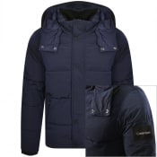 Product Image for Calvin Klein Jeans Hooded Jacket Navy