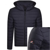 Product Image for Superdry Hooded Padded Jacket Navy